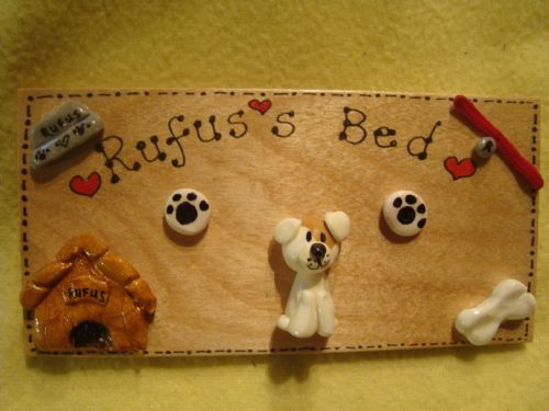 One Personalised Puppy Dog Kennel Bed Run Wooden 3d Sign Personalised Any Breed /Colouration Phrasing Unique Gift